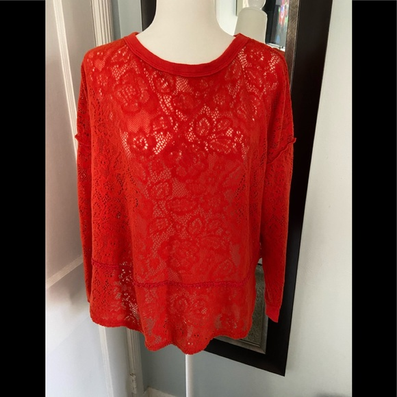 Free People Tops - Free people blouse size S orange color